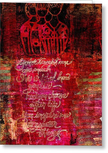 Survivor Art Greeting Cards - Friends Greeting Card by Angela L Walker