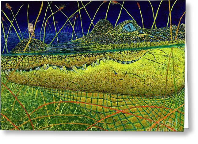 Swamp Gathering Greeting Card by David Joyner