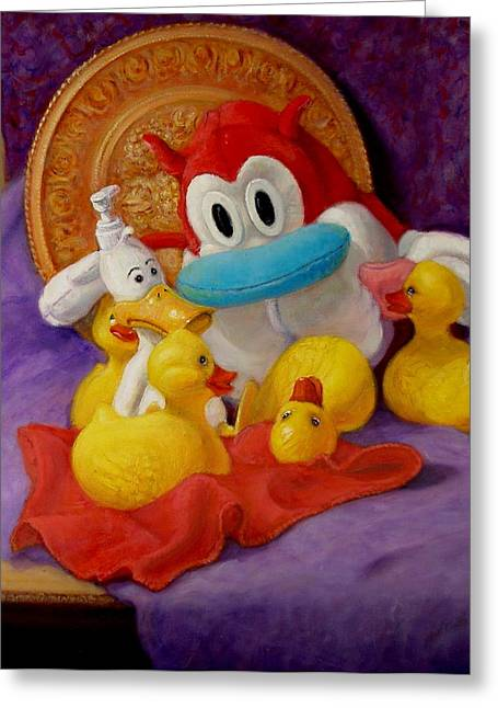Greeting Card featuring the painting Friends by Donelli  DiMaria