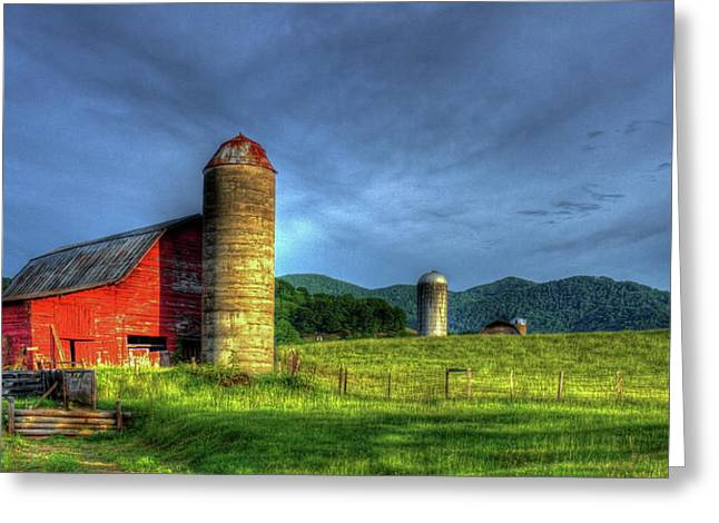 Friends For Life Great Smoky Mountains Red Barn Art Greeting Card