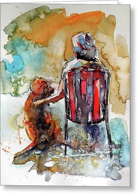 Friends Forever Greeting Card by Kovacs Anna Brigitta