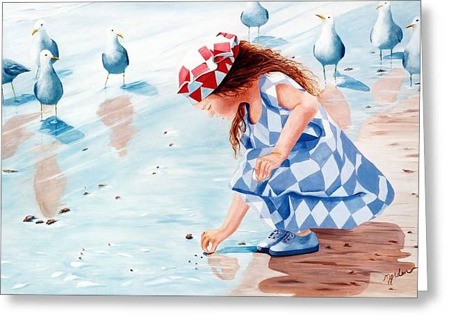 Friends - Prints From Original Oil Painting Greeting Card
