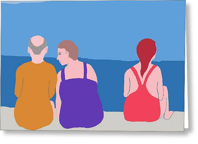 Friends On Beach Greeting Card