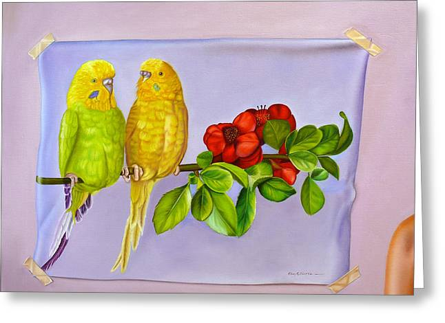 Friends On Flora Greeting Card