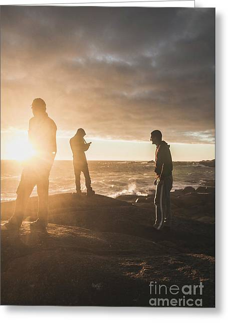 Friends On Sunset Greeting Card by Jorgo Photography - Wall Art Gallery