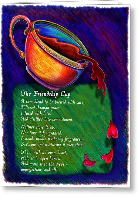 Friendship Cup Greeting Card by Anne Nye