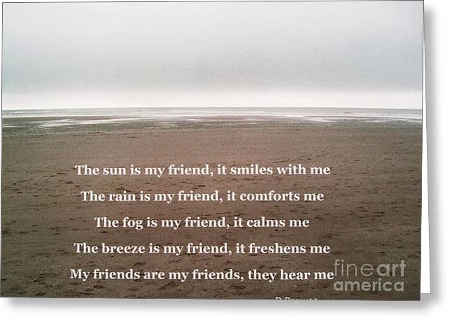 Friendship Greeting Card by Deborah Brewer