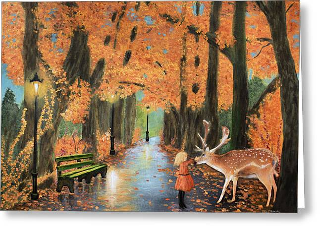 Friendship On A Lonely Road Greeting Card by Ken Figurski