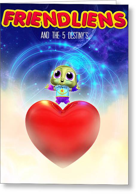 Frienliens 5 Destiny Movie Poster Greeting Card
