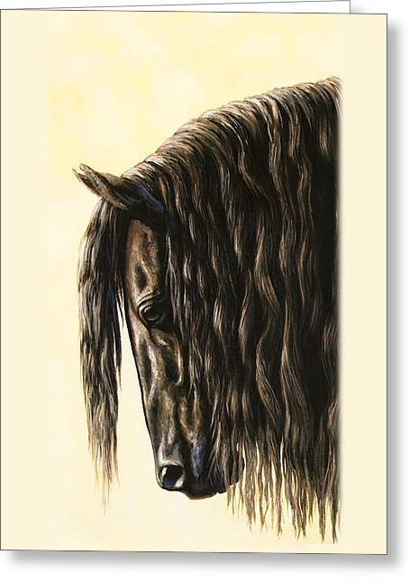 Friesian Horse Phone Case Greeting Card by Crista Forest
