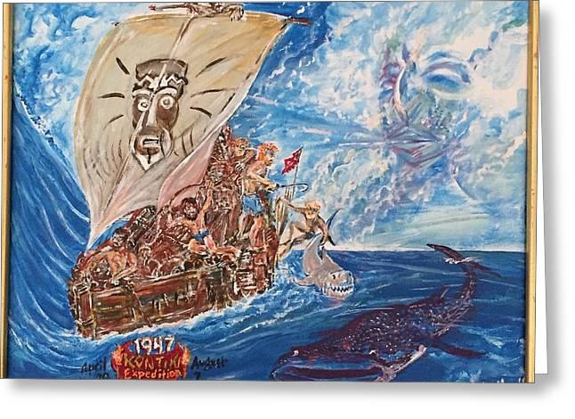 Friggin In The Riggin - Kon Tiki Expedition Greeting Card