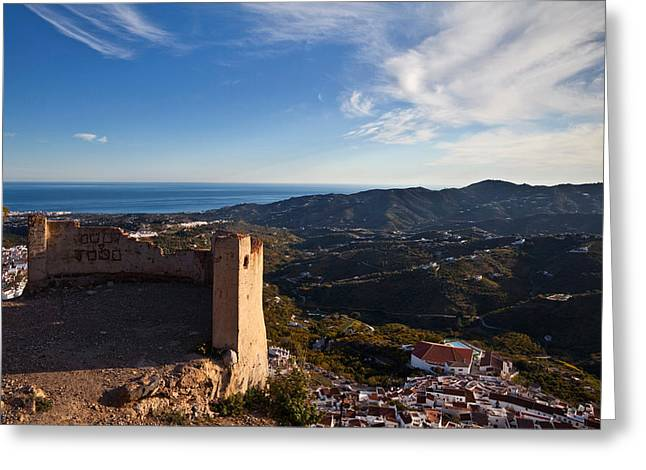 Frigiliana From El Fuerte De Greeting Card by Panoramic Images
