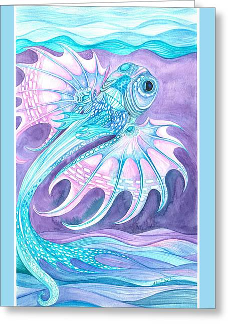 Frilled Fish Greeting Card
