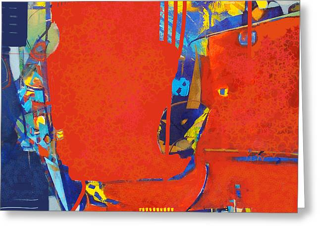 Fringe And Red Tape Greeting Card by Dale  Witherow