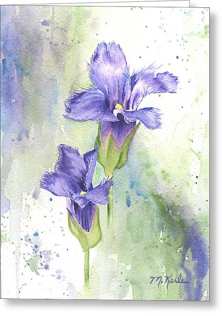 Fringed Gentian Greeting Card
