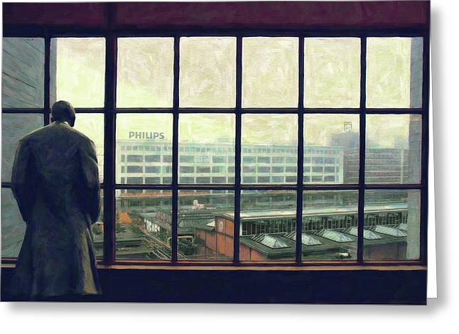 Frits Is Overlooking His Philips Plants In Eindhoven Greeting Card by Nop Briex
