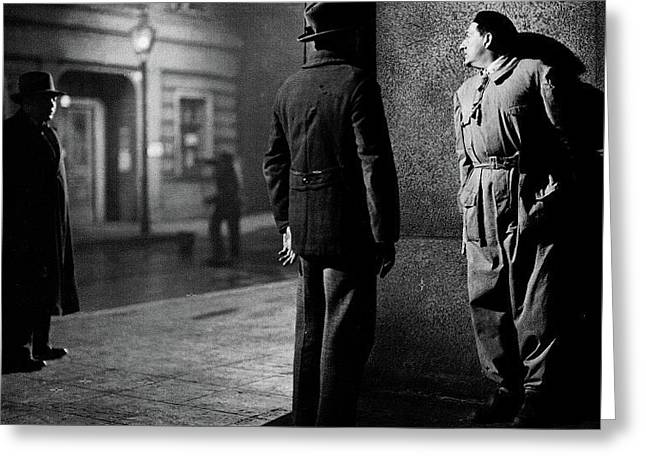 Fritz Lang Directing M Peter Lorre On The Left Berlin Germany 1931 Greeting Card by David Lee Guss