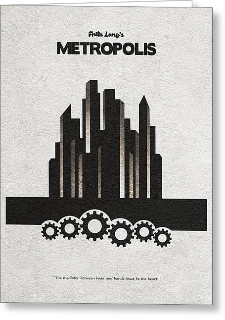 Fritz Lang's Metropolis Alternative Minimalist Movie Poster Greeting Card