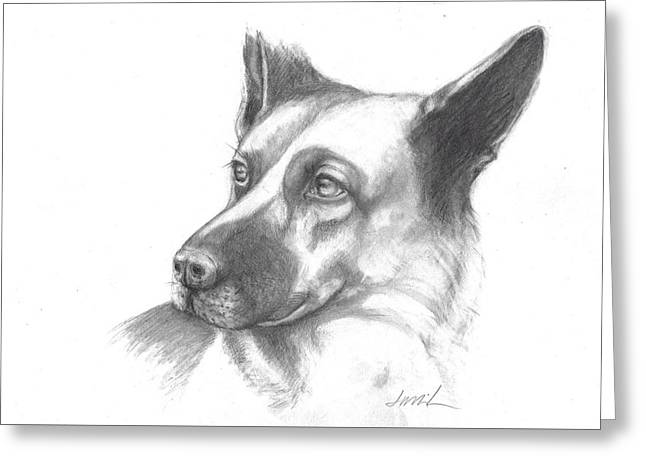 Fritz The German Shepherd Greeting Card
