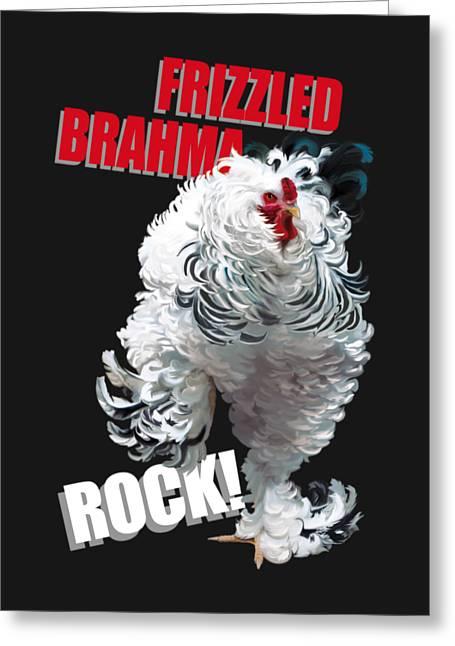 Frizzled Brahma T-shirt Print Greeting Card