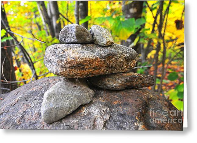 Frog Cairn Greeting Card