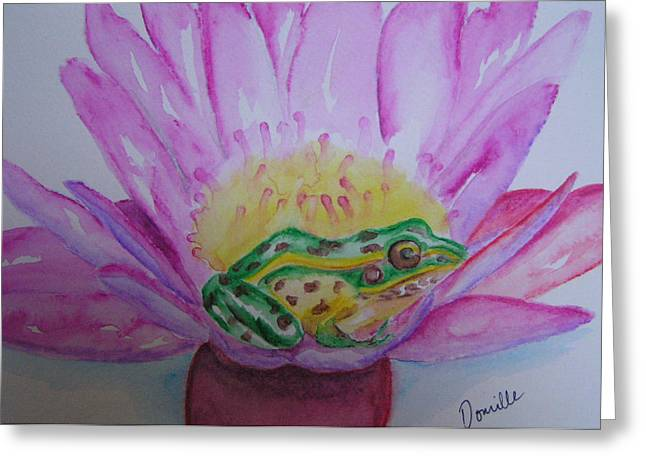 Frog Greeting Card by Donielle Boal