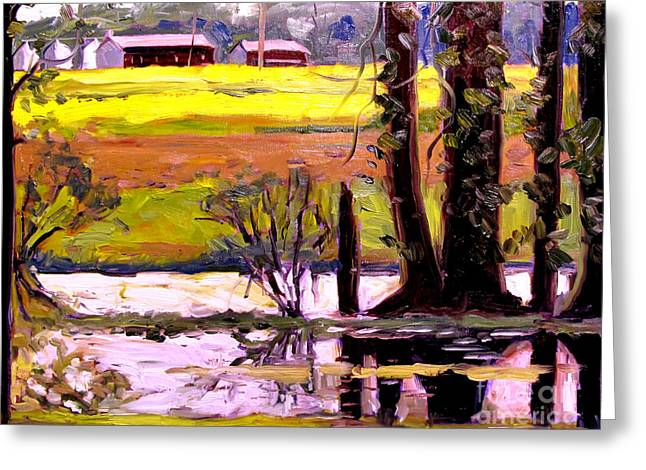 Frog Pong At Life Plein Air Greeting Card by Charlie Spear