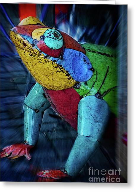 Frog Prince Greeting Card by Mary Machare