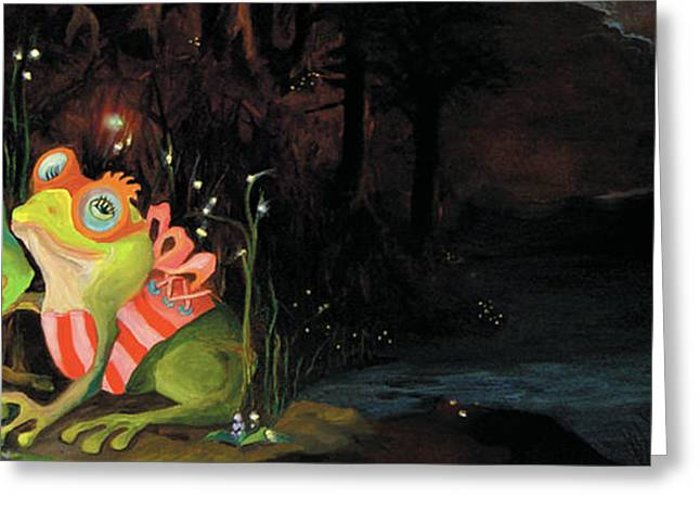 Frogs At Silver Lake Greeting Card