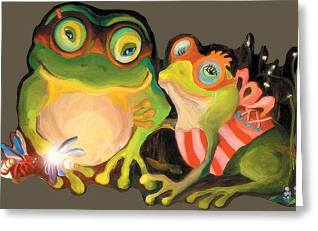 Frogs Transparent Background Greeting Card