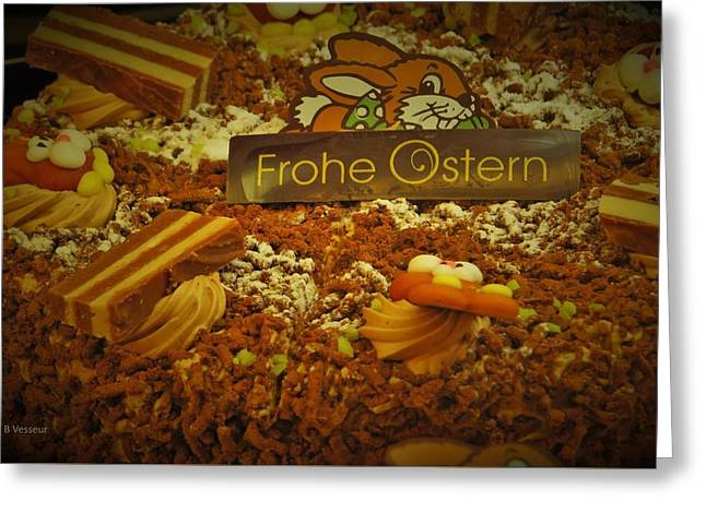 Frohe Ostern Greeting Card by B Vesseur