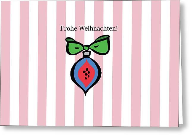 Frohe Weihnachten In Pink Greeting Card by Patti Britton