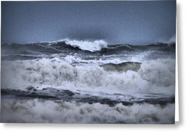 Greeting Card featuring the photograph Frolicsome Waves by Jeff Swan