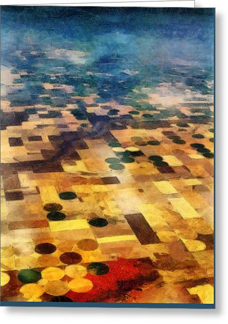 Greeting Card featuring the digital art From Above by Michelle Calkins