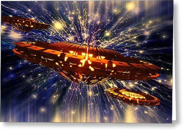 From Another Dimension By Raphael Terra Greeting Card by Raphael Terra