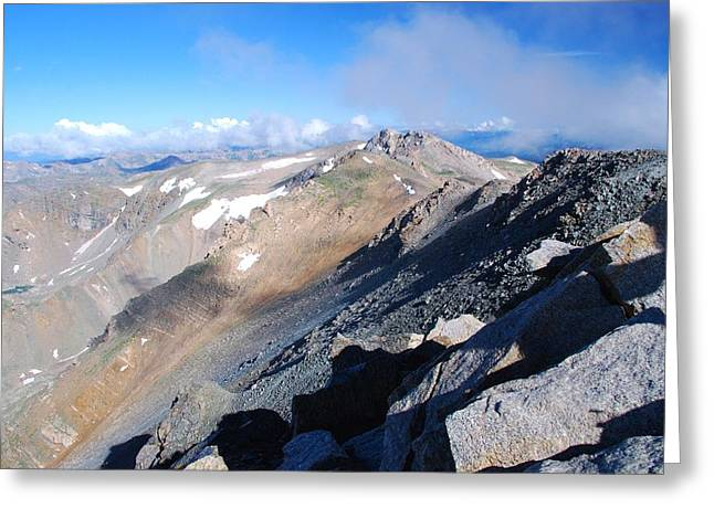 Greeting Card featuring the photograph From Atop Mount Massive by Cascade Colors