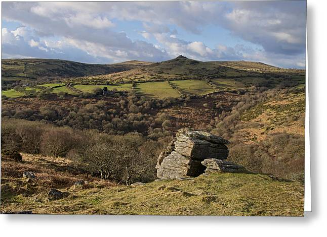 From Bench Tor To Sharp Tor Greeting Card by Pete Hemington