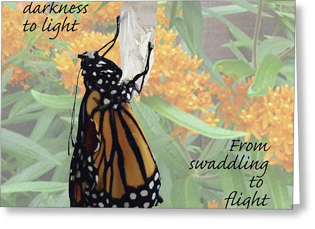 From Darkness To Light Greeting Card
