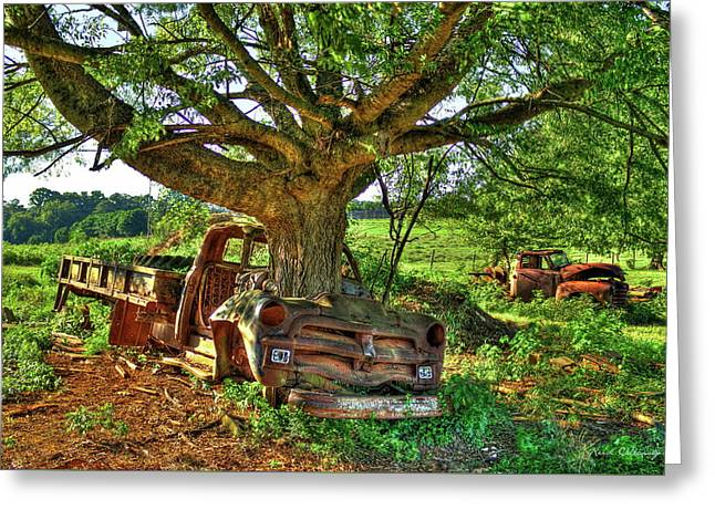 1954 Chevrolet Flatbed From Death To Life  Art Greeting Card by Reid Callaway