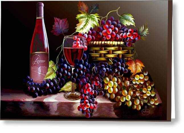 From Grapes To Wine Greeting Card by Ron Chambers
