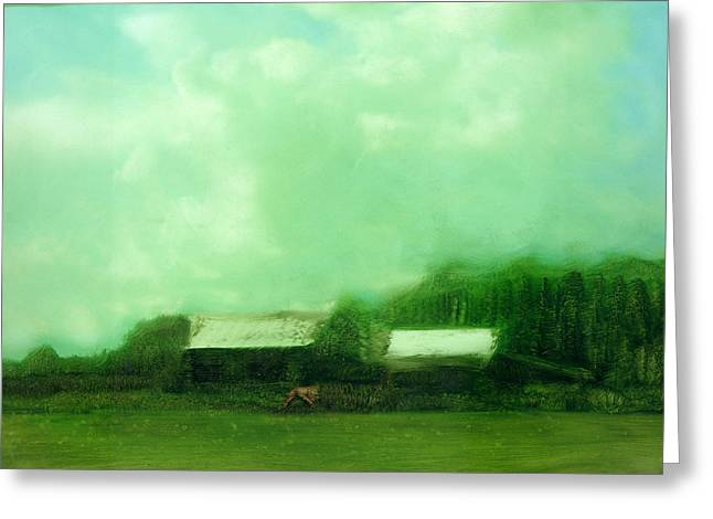 Greeting Card featuring the painting From Ground To Sky by FeatherStone Studio Julie A Miller