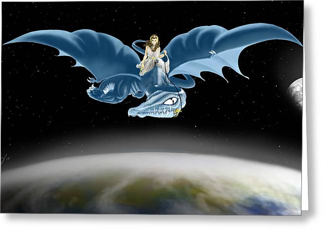 From Heaven To Earth Came Greeting Card by Devaron Jeffery