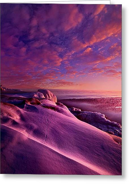 Greeting Card featuring the photograph From Inside The Heart Of Each by Phil Koch