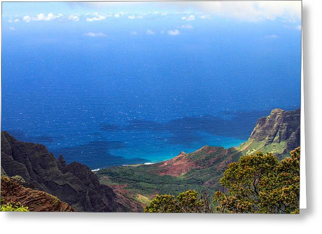 From Kalalau Valley To The Sky Greeting Card