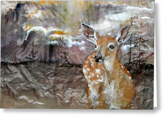 Greeting Card featuring the painting From My Eyes I See by Debbi Saccomanno Chan