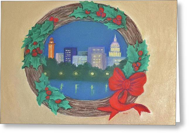 Austin Pastels Greeting Cards - From My Town To Yours Greeting Card by Pat Neely