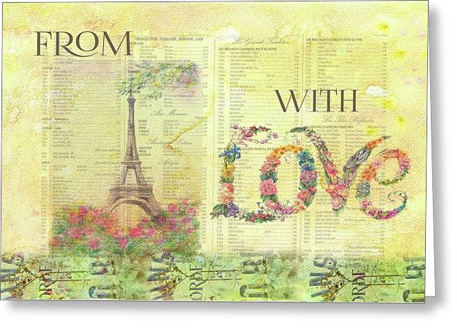 From Paris With Love Eiffel Tower Greeting Card