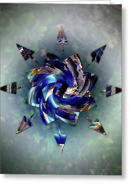 From Seeds Of Kaos Greeting Card by Another Dimension Art