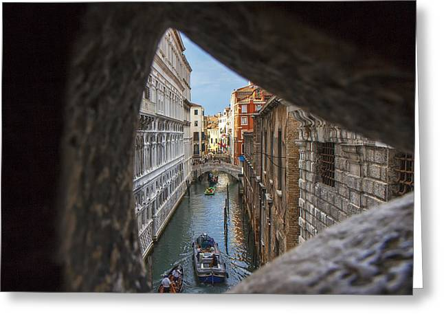 From The Bridge Of Sighs Venice Italy Greeting Card by Rick Starbuck