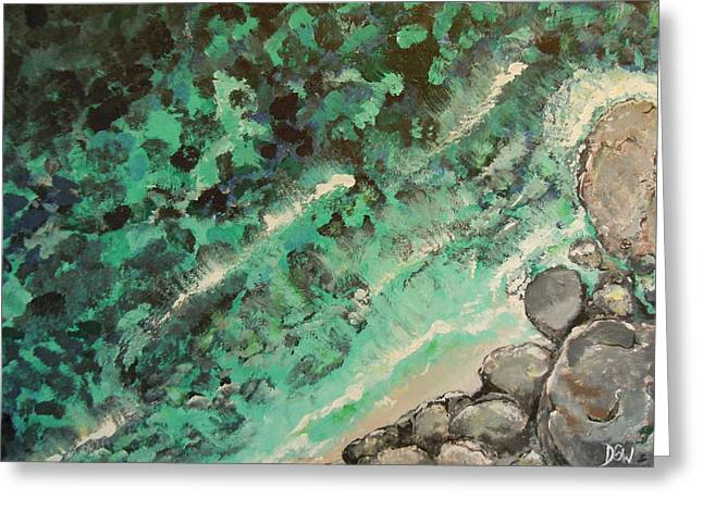 Greeting Card featuring the painting From The Cliff by Dan Whittemore